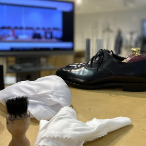 【Instagram LIVE】オンライン靴磨き講座 / 末広がりの靴磨き