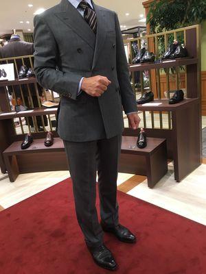 【名古屋松坂屋店】お客様が山長スーツを着用来店です!