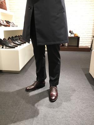 【三陽銀座タワー店】セミブローグシューズ