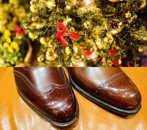 【日本橋髙島屋S.C.店】クリスマスにはブローグシューズを履きたくなる