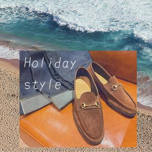 【日本橋髙島屋S.C.店】ラフな休日スタイルは靴で変わる。